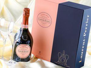 Laurent-Perrier - Champagne Cuvée Rosé Brut - mit 2 Gläsern