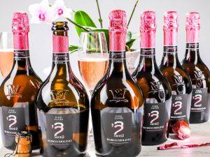 Borgo Molino - 6er-Sparpaket Spumante venti2 Pink Cuvée Extra Dry