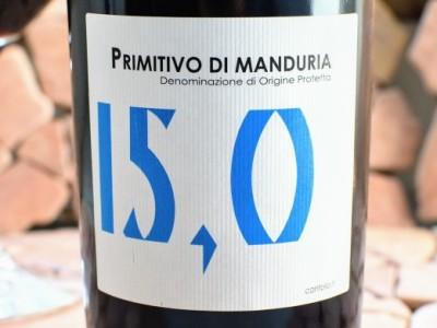 Primitivo di Manduria 2018 di Mare 15,0