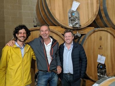 Giuseppe Bino und Alessandro Michelon mit Michael Liebert
