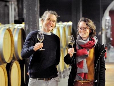 Amandine Marchive und Richard Rottier von Domaine des Malandes