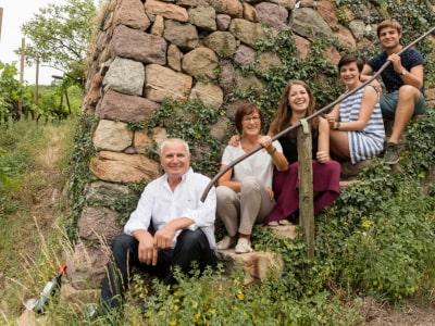 Franz und Florian Gojer mit Familie