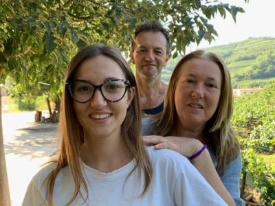 Gloria, Gelmino und Cristina dal Bosco