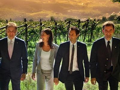 Matteo, Camilla, Alessandro und Marcello Lunelli von Ferrari Spumante