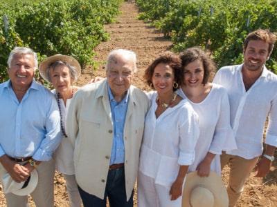 Familie Pellegrino im Weinberg bei Marsala