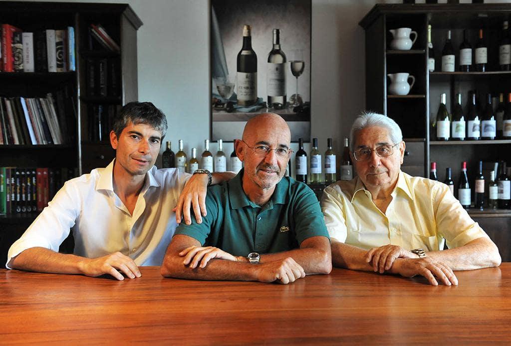 Franco, Luciano und Vater Luciano sen. Piona