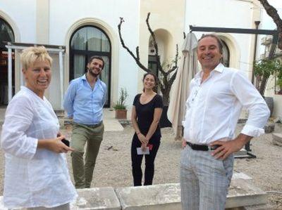 Michael Liebert zu Besuch bei Schola Sarmenti